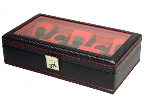 Friedrich Lederwaren Carbon 32048-2 kazeta na hodinky