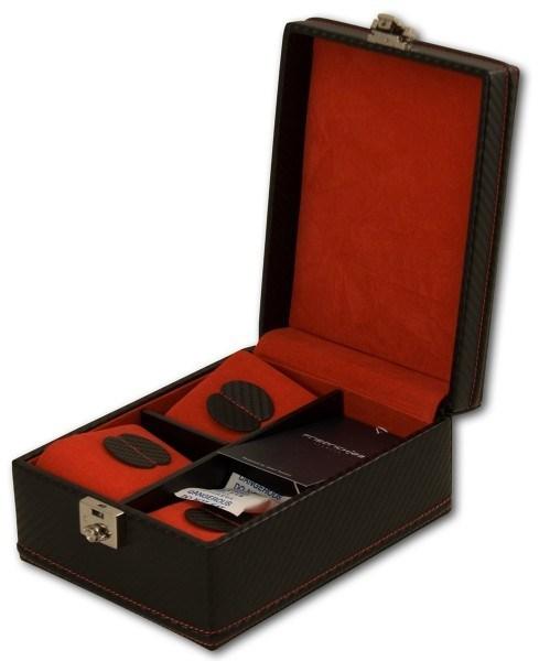 Friedrich Lederwaren Carbon 32049-2 kazeta na hodinky